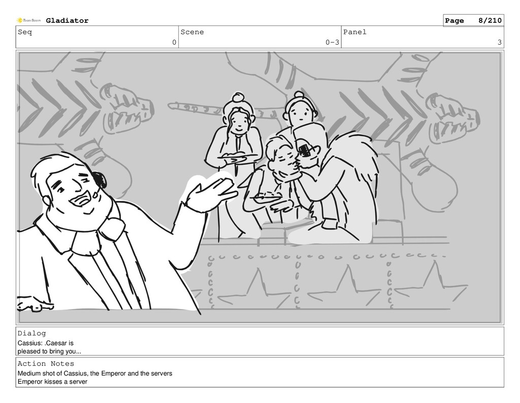 Seq 0 Scene 0-3 Panel 3 Dialog Cassius: .Caesar...