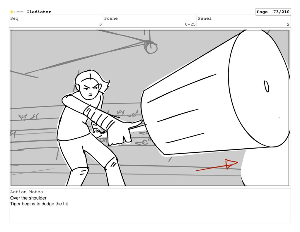 Seq 0 Scene 0-25 Panel 2 Action Notes Over the ...