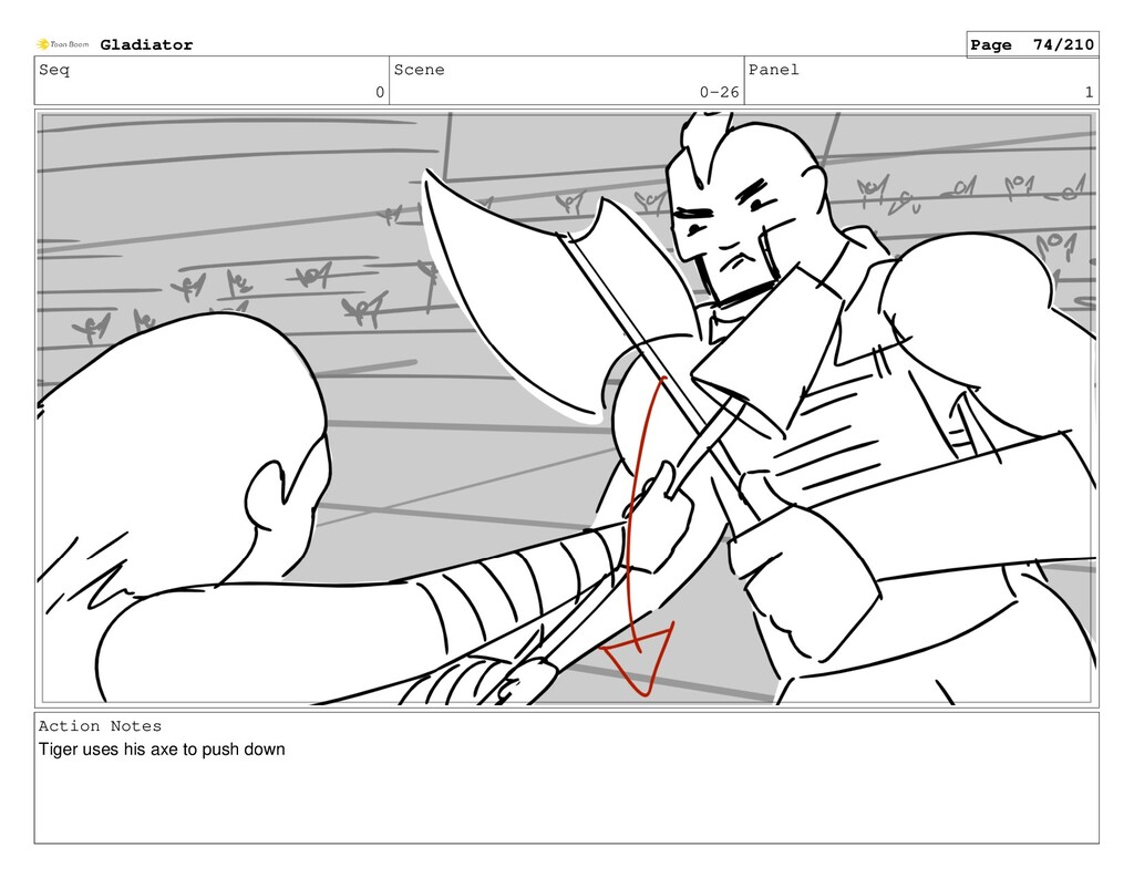 Seq 0 Scene 0-26 Panel 1 Action Notes Tiger use...