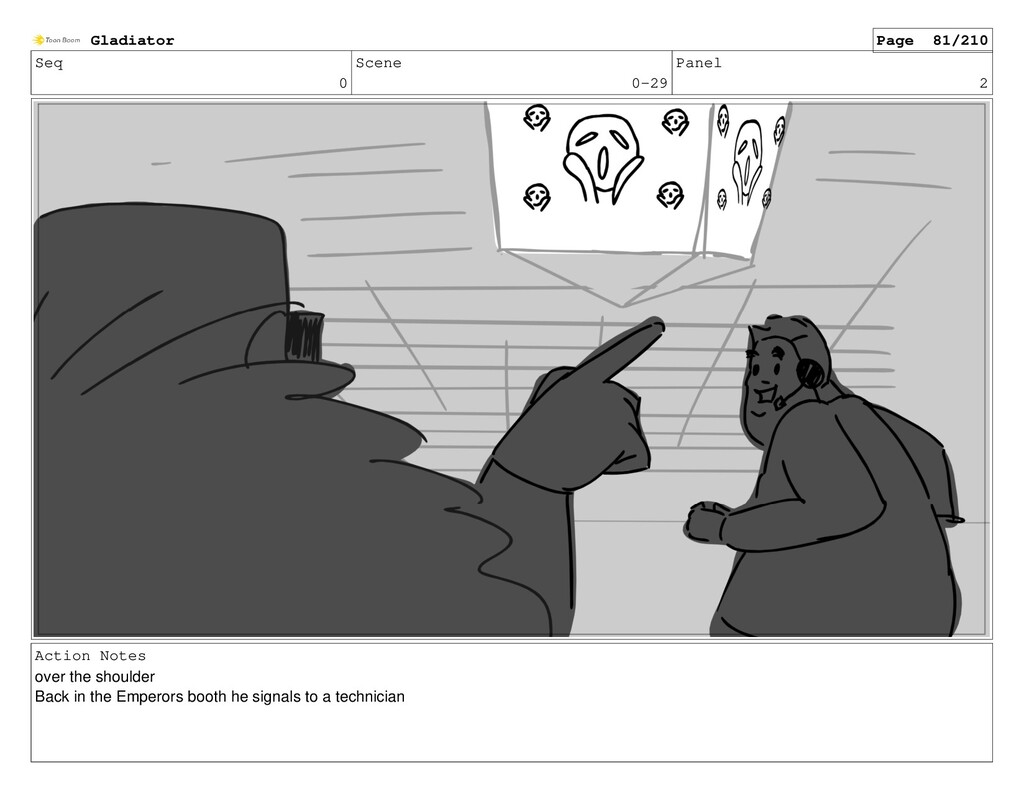 Seq 0 Scene 0-29 Panel 2 Action Notes over the ...