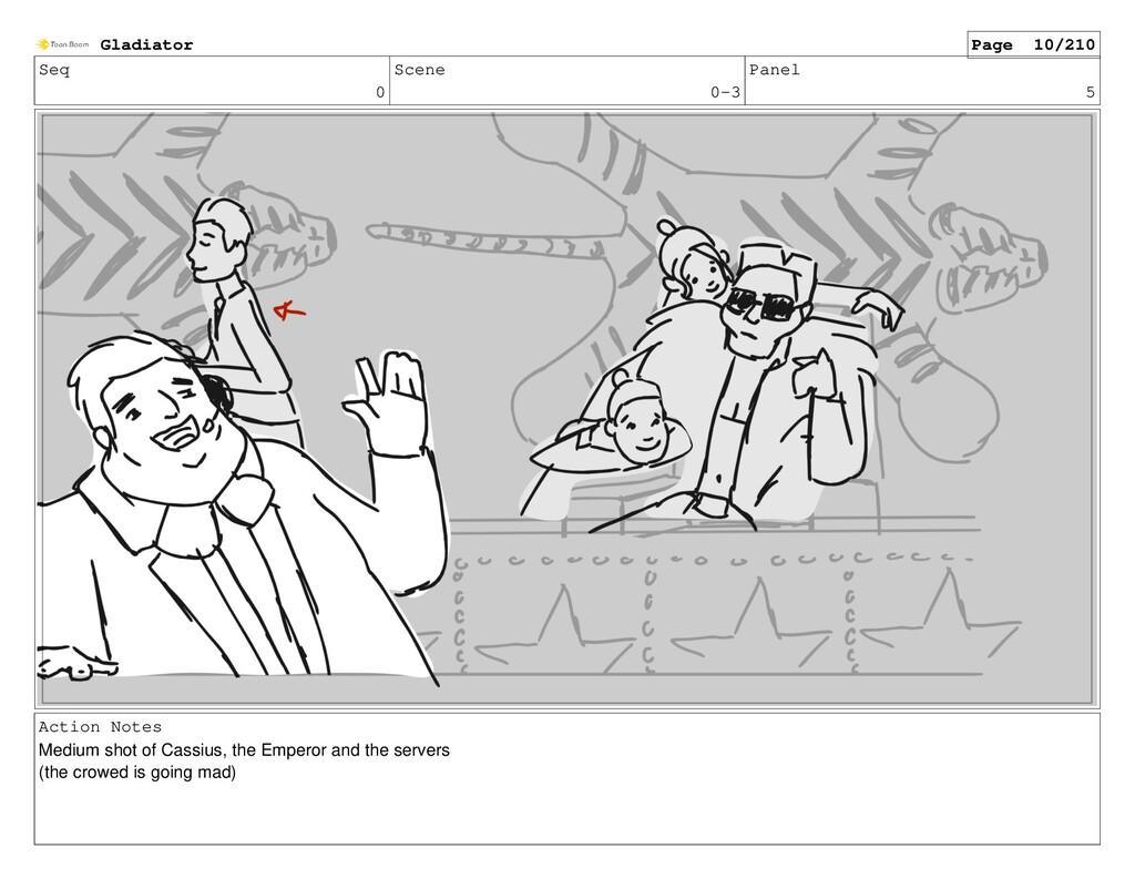 Seq 0 Scene 0-3 Panel 5 Action Notes Medium sho...