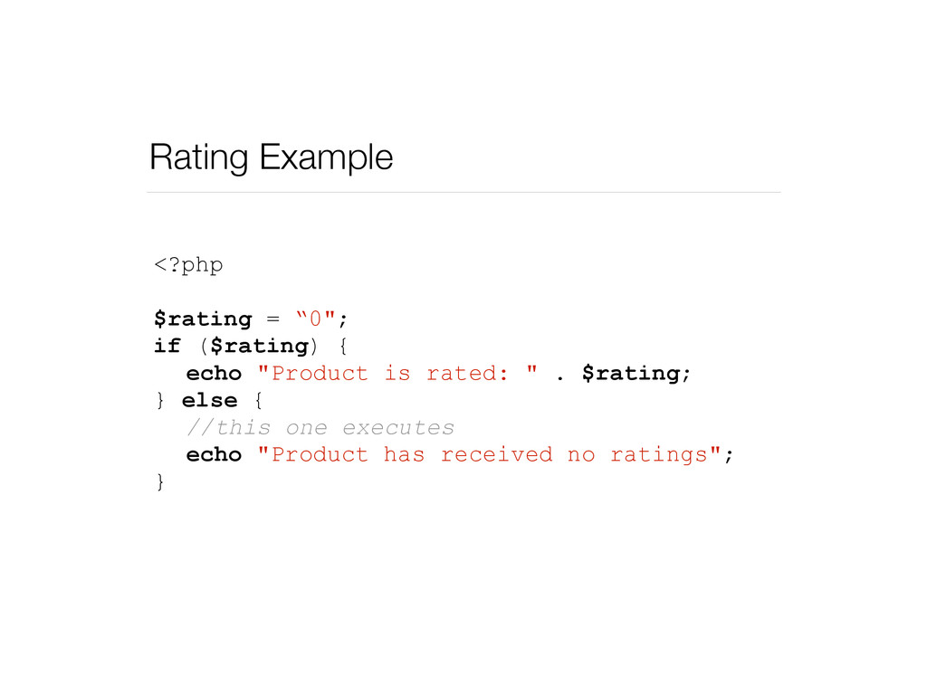 """Rating Example <?php $rating = """"0""""; if ($rating..."""