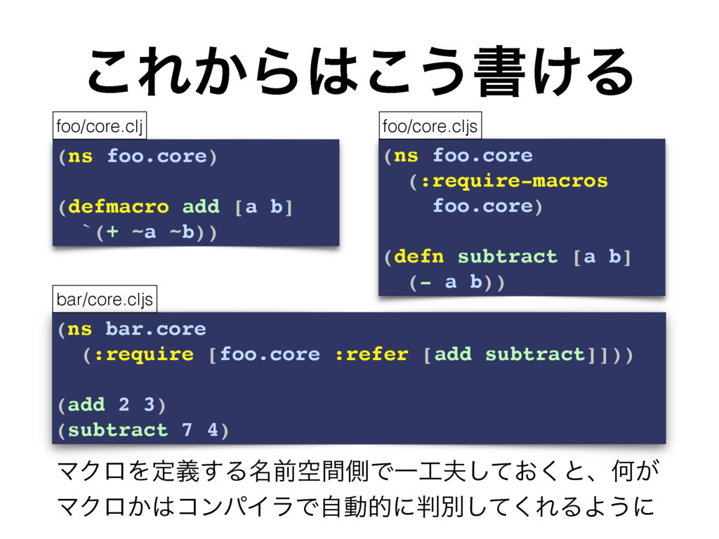 (ns bar.core (:require [foo.core :refer [add su...