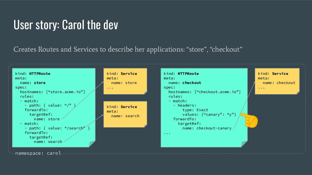 User story: Carol the dev Creates Routes and Se...