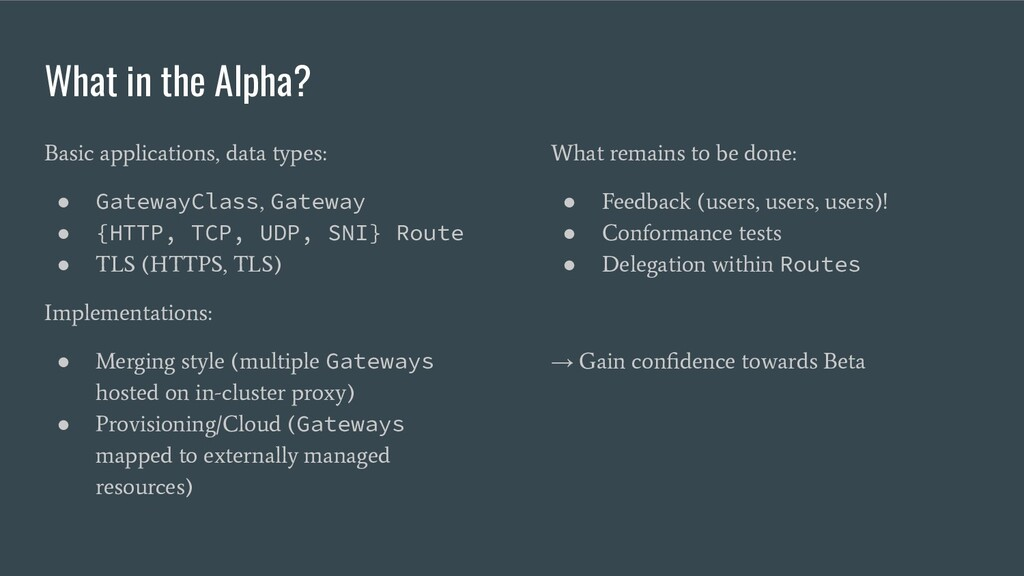 Services V+1 What in the Alpha? Basic applicati...