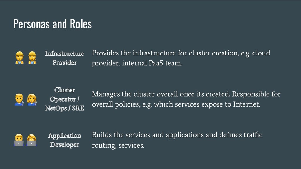 Personas and Roles Infrastructure Provider Prov...