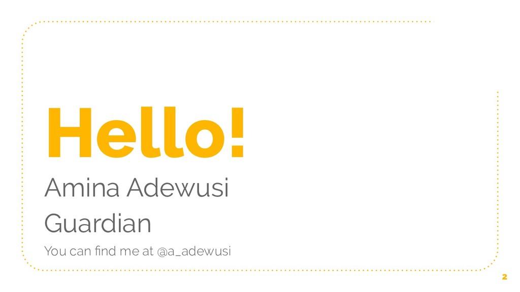 Hello! Amina Adewusi Guardian You can find me at...