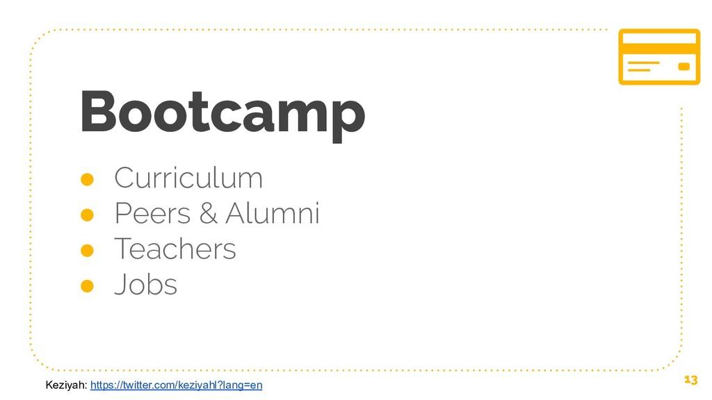 Bootcamp ● Curriculum ● Peers & Alumni ● Teache...