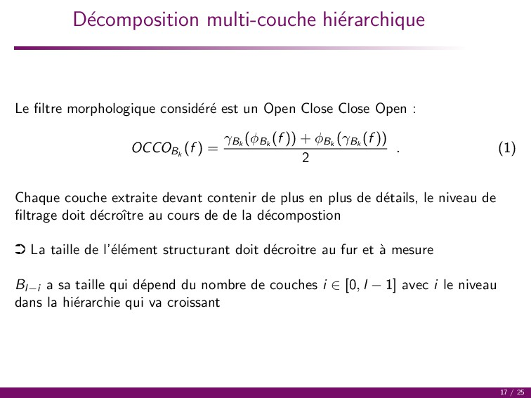 D´ ecomposition multi-couche hi´ erarchique Le ...