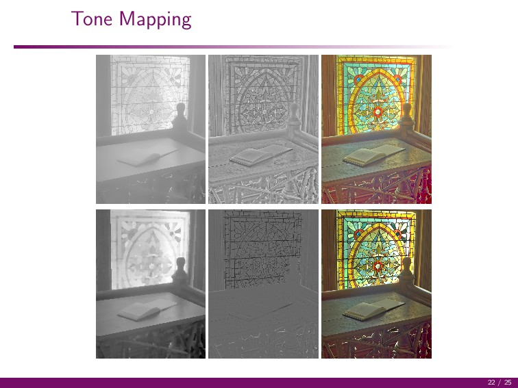 Tone Mapping 22 / 25