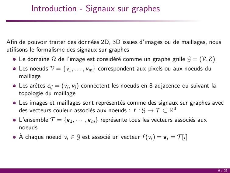 Introduction - Signaux sur graphes Afin de pouvo...