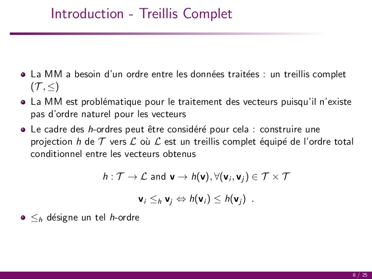 Introduction - Treillis Complet La MM a besoin ...