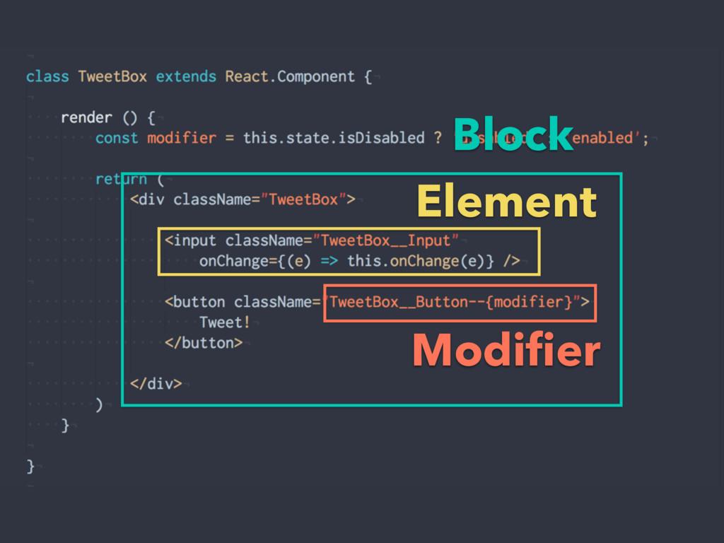 Block Element Modifier