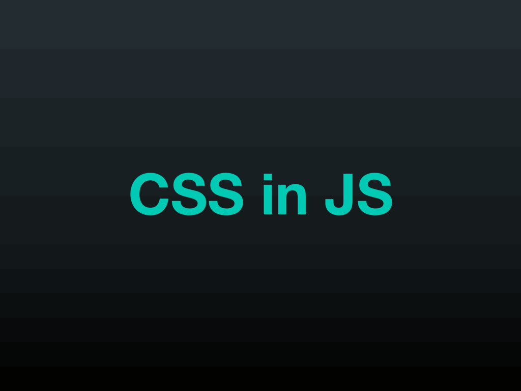 CSS in JS