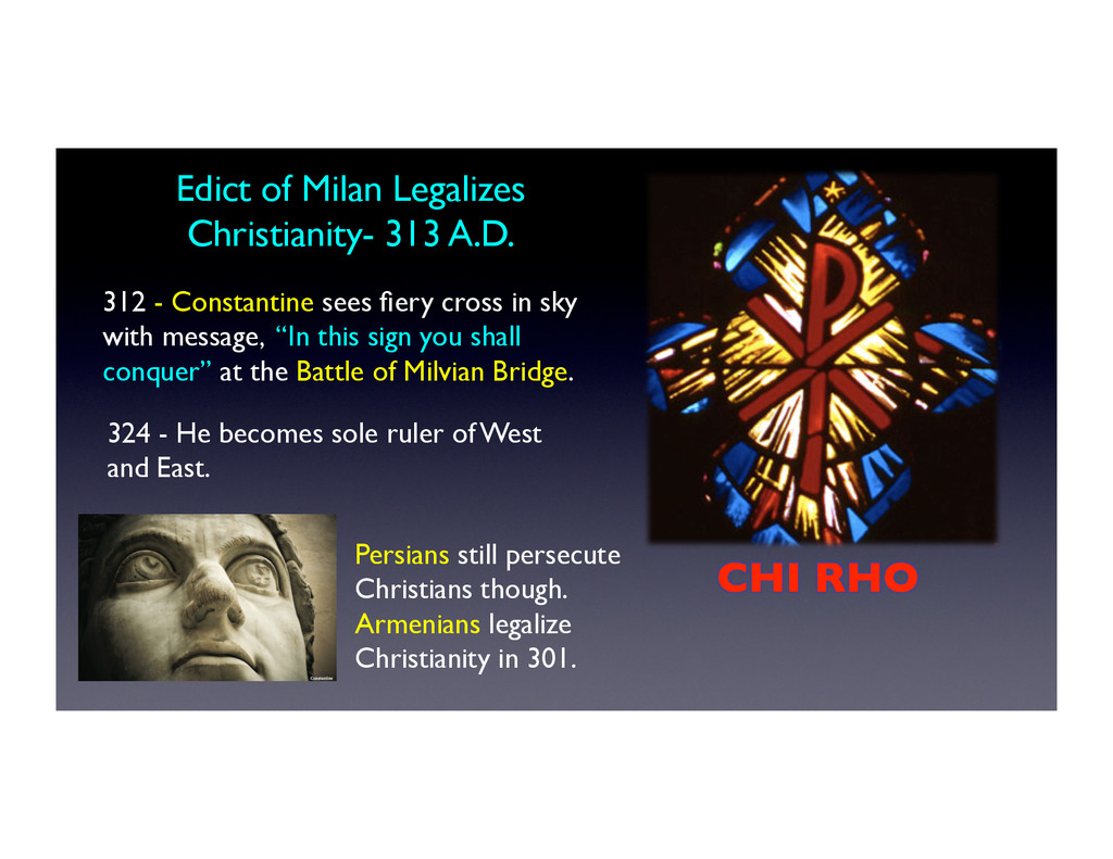 Edict of Milan Legalizes
