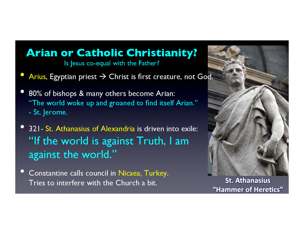 Arian or Catholic Christianity?