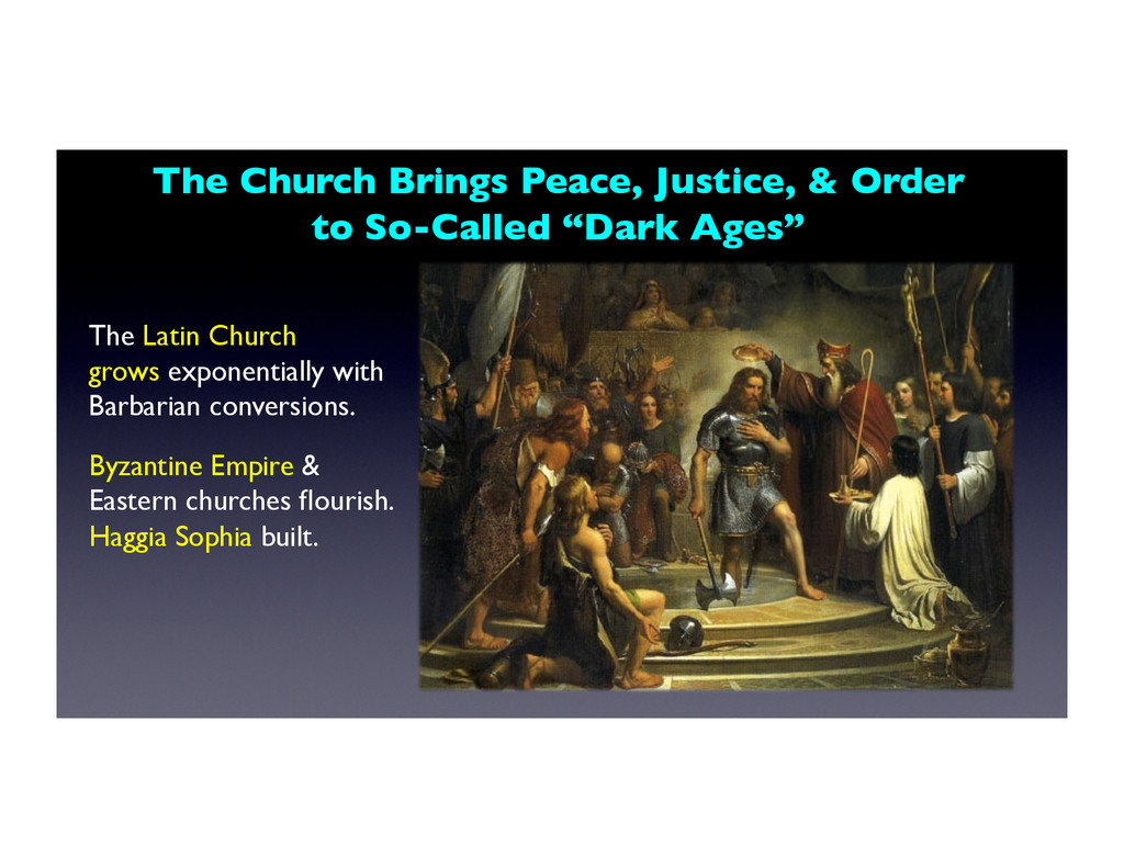 The Church Brings Peace, Justice, & Order