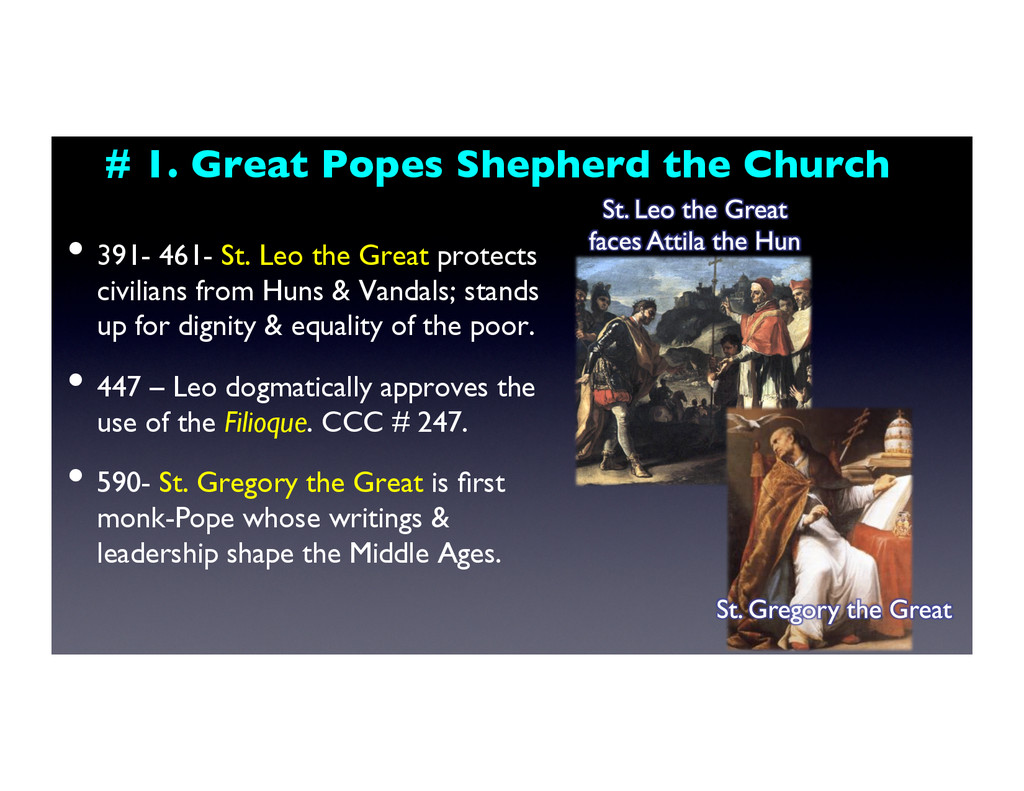 # 1. Great Popes Shepherd the Church	 