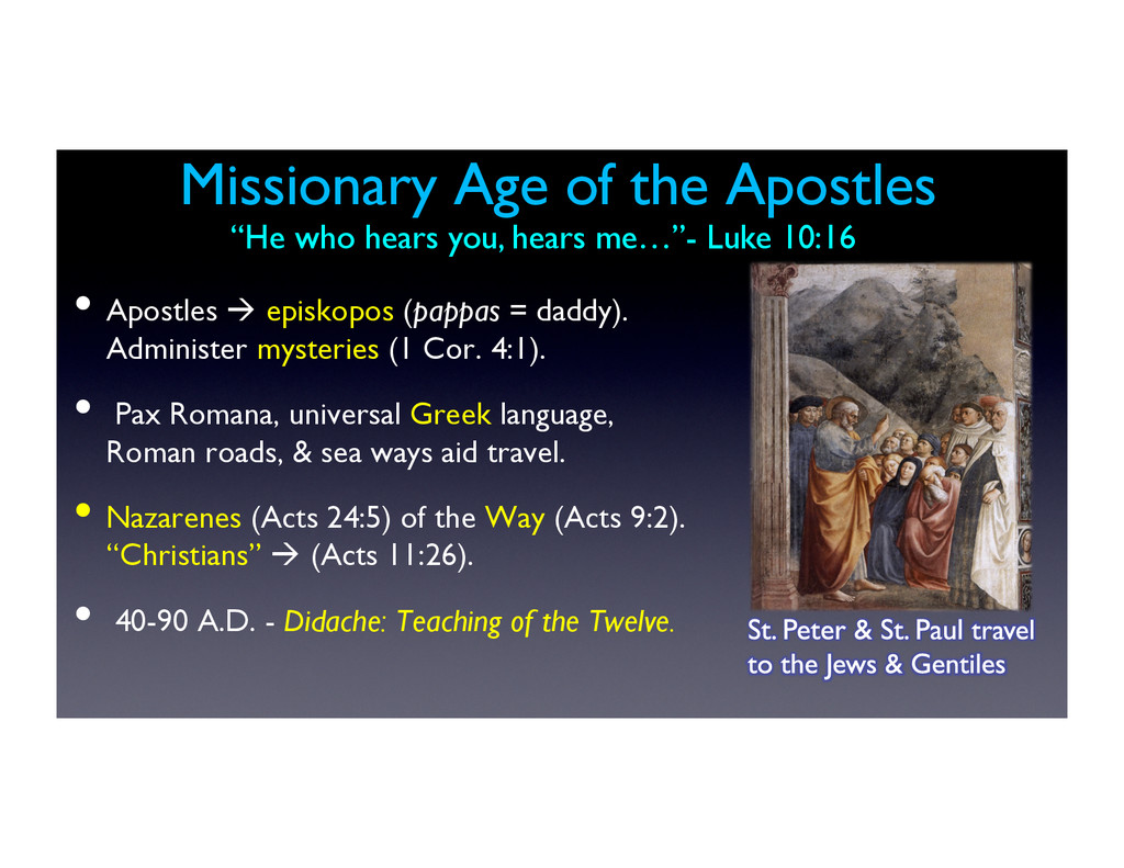 Missionary Age of the Apostles