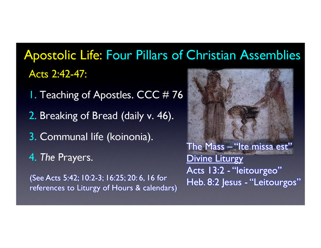Apostolic Life: Four Pillars of Christian Assem...