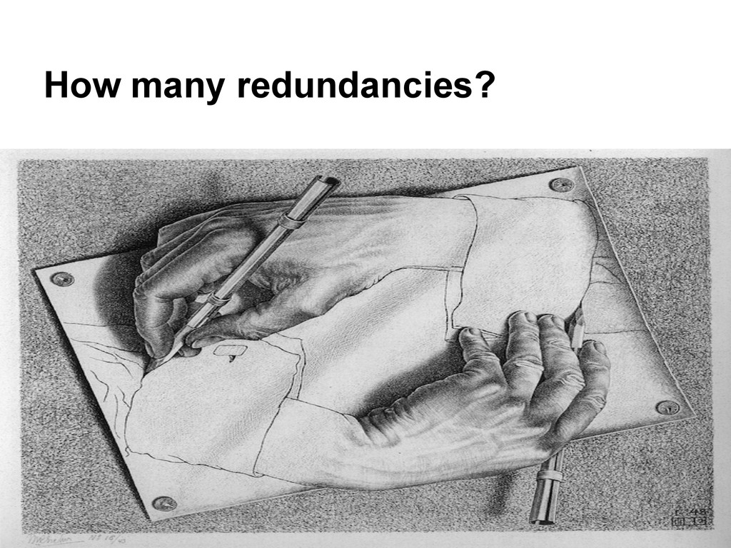 How many redundancies?