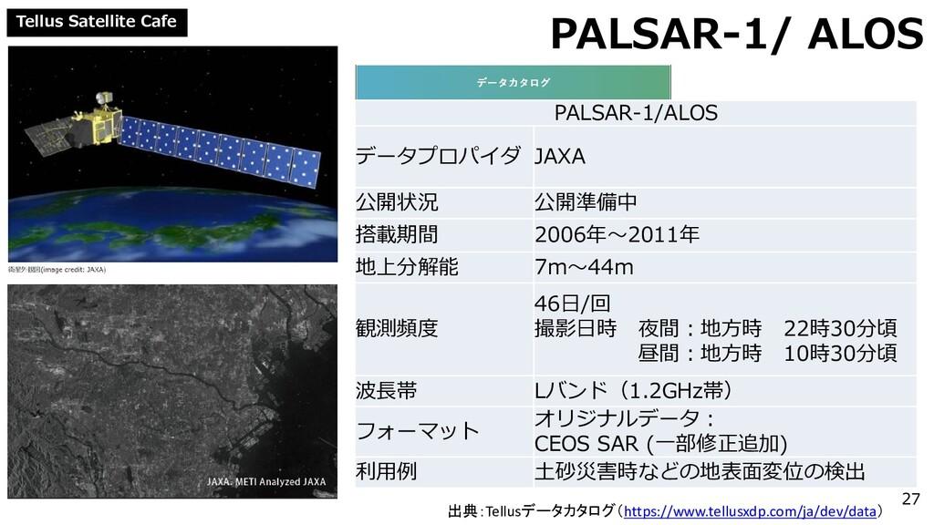 Tellus Satellite Cafe PALSAR-1/ ALOS PALSAR-1/A...