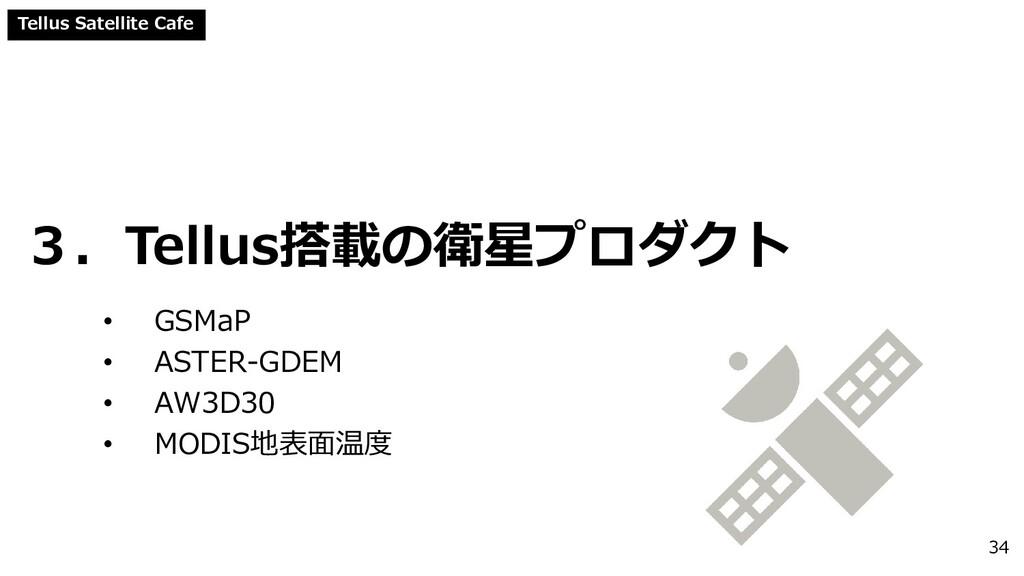 Tellus Satellite Cafe 3.Tellus搭載の衛星プロダクト • GSMa...