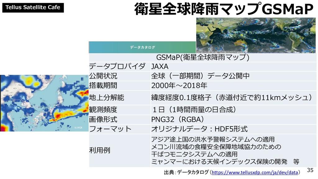 Tellus Satellite Cafe 衛星全球降雨マップGSMaP GSMaP(衛星全球...