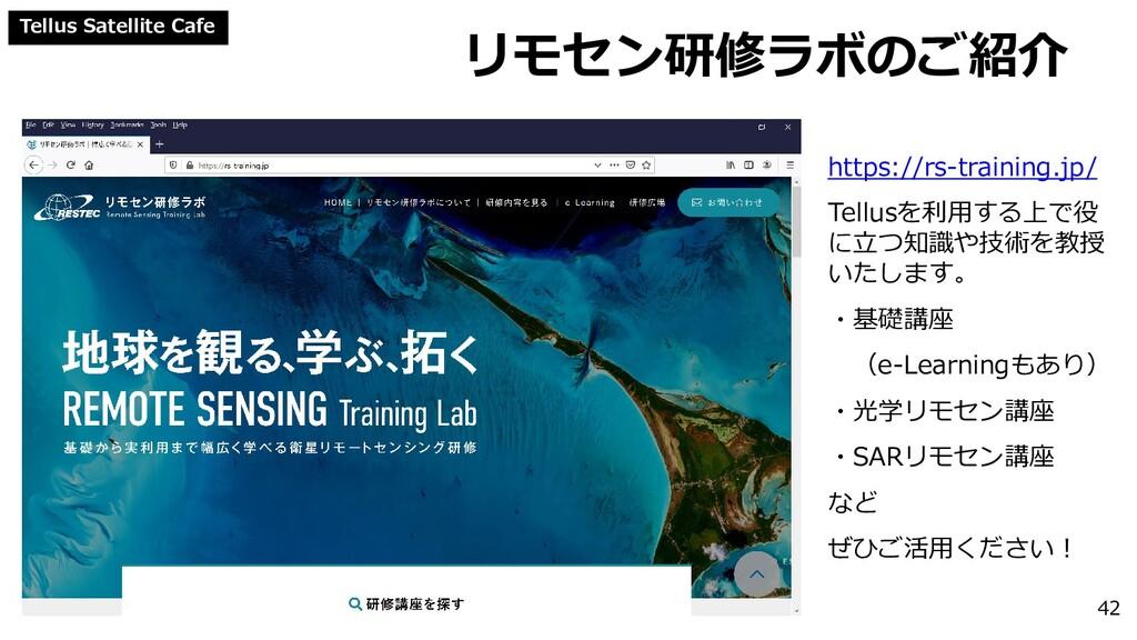 Tellus Satellite Cafe リモセン研修ラボのご紹介 42 https://r...