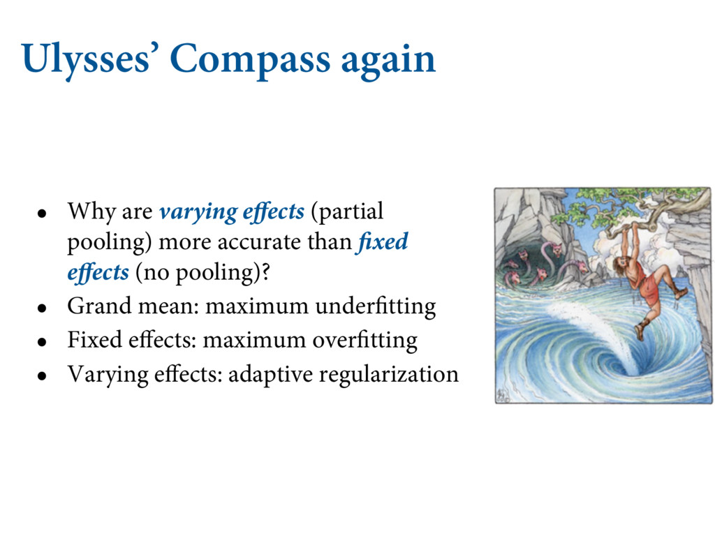 Ulysses' Compass again • Why are varying effect...