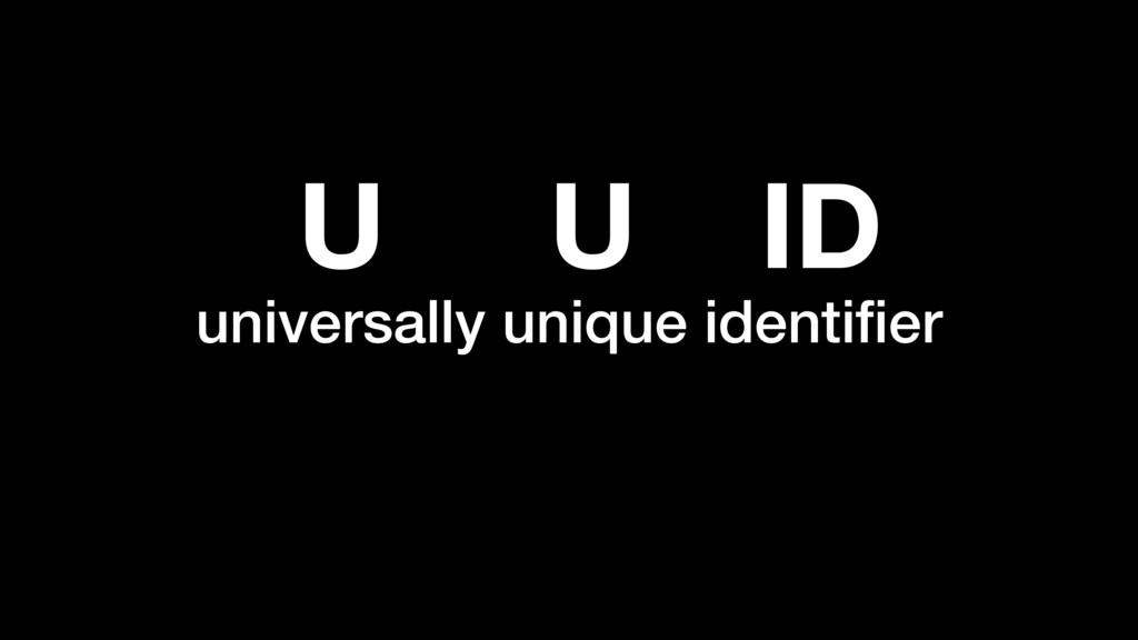 universally unique identifier U U ID