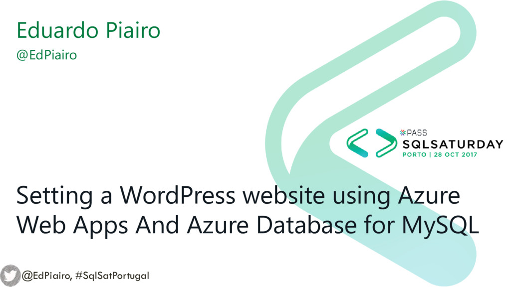 Setting a WordPress website using Azure Web App...