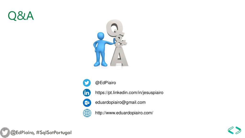 Q&A @EdPiairo, #SqlSatPortugal @EdPiairo https:...