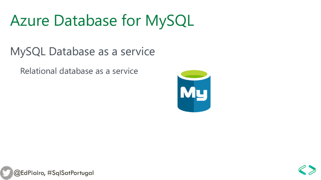 Azure Database for MySQL MySQL Database as a se...