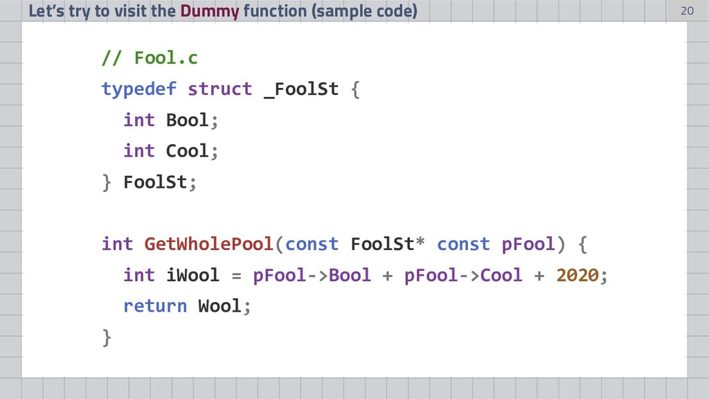 20 Let's try to visit the Dummy function (sampl...