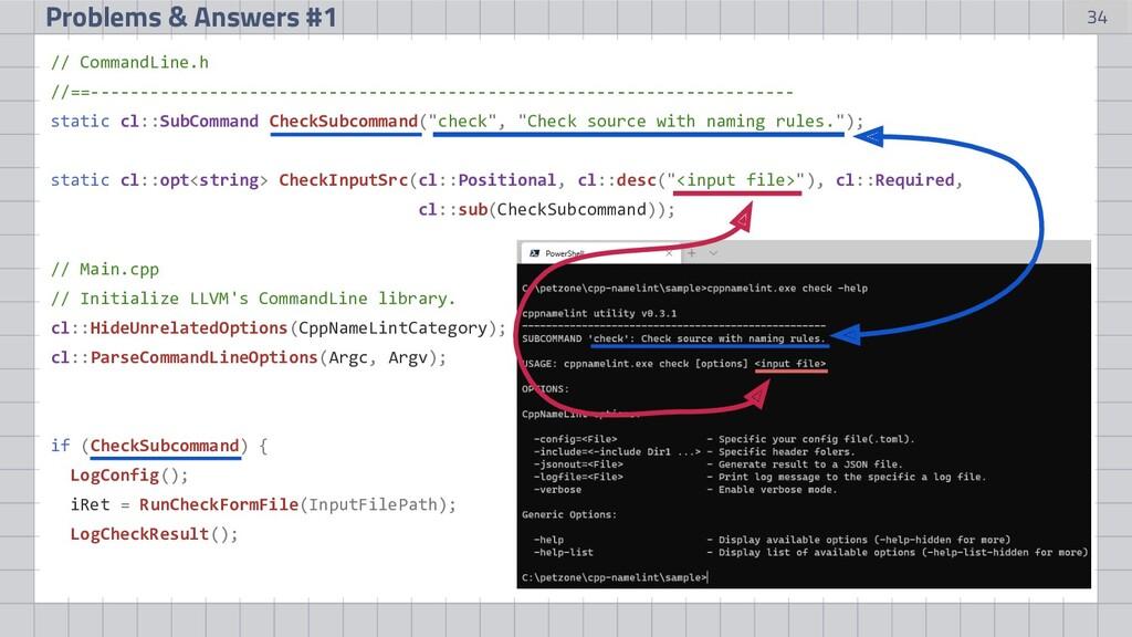 34 Problems & Answers #1 // CommandLine.h //==-...