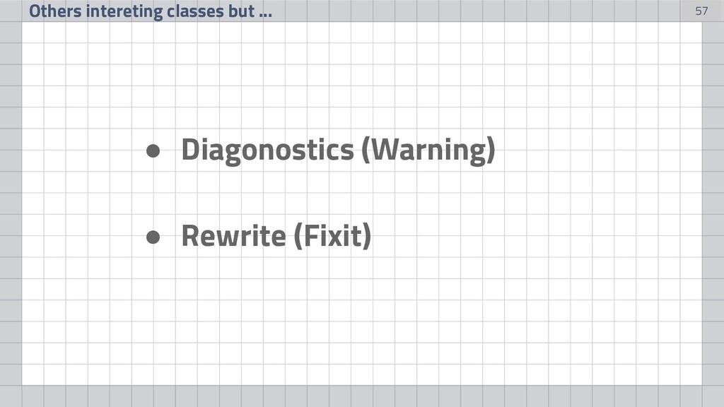 57 ● Diagonostics (Warning) ● Rewrite (Fixit) O...