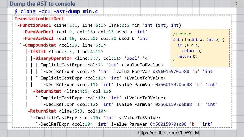 TranslationUnitDecl `-FunctionDecl <line:2:1, l...