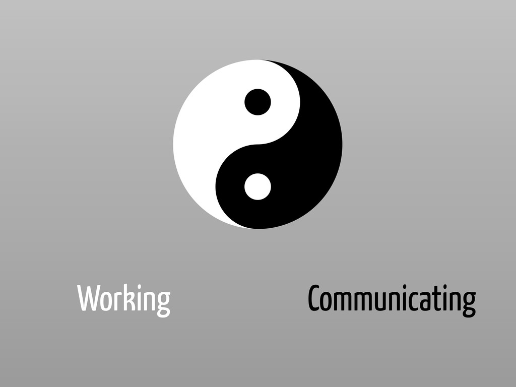 Working Communicating