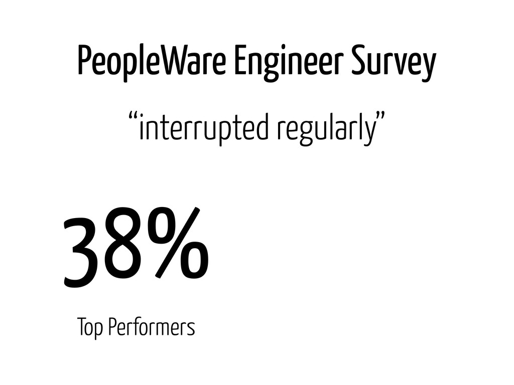 "PeopleWare Engineer Survey 38% Top Performers ""..."
