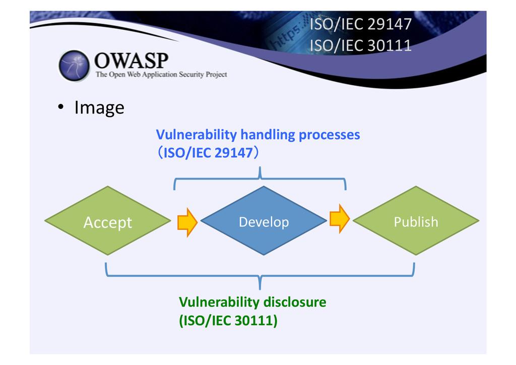 ISO/IEC 29147  ISO/IEC 30111 • Imag...
