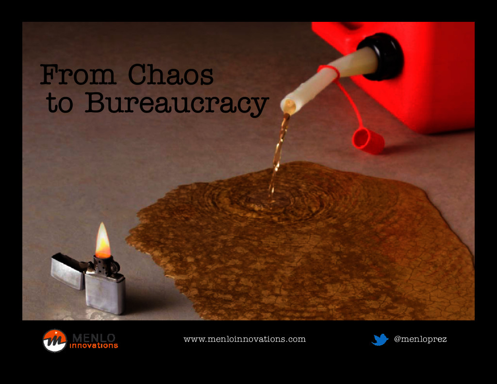 From Chaos From Chaos to Bureaucracy www.menloi...