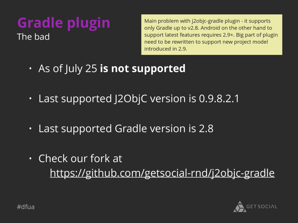 #dfua Gradle plugin • As of July 25 is not supp...