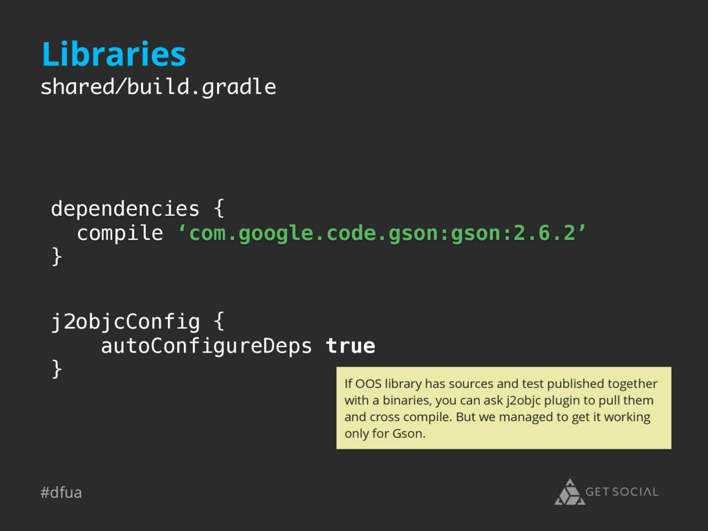 #dfua dependencies { compile 'com.google.code.g...