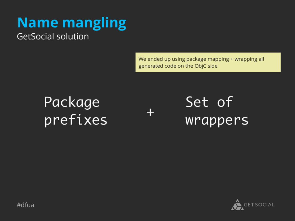 #dfua Name mangling GetSocial solution Package ...