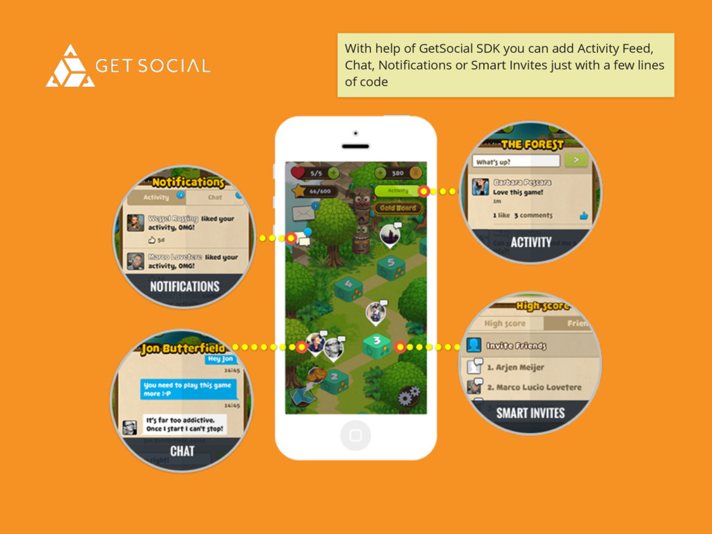 With help of GetSocial SDK you can add Activity...