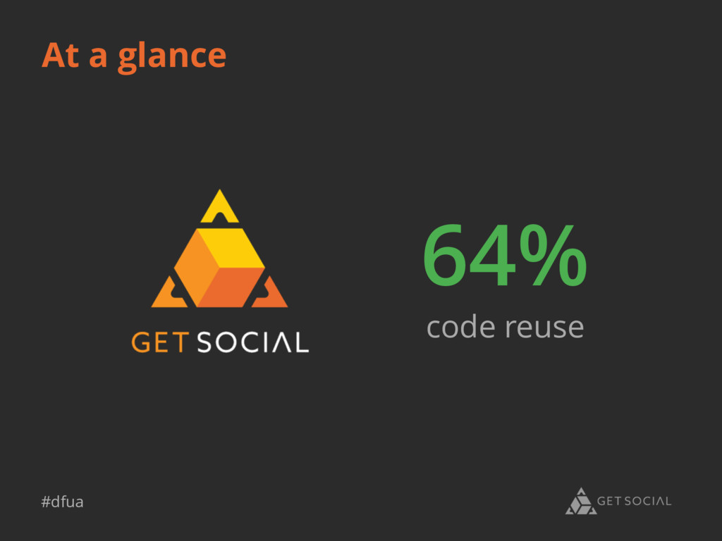 #dfua 64% code reuse At a glance