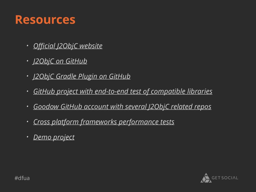 #dfua Resources • Official J2ObjC website • J2Obj...