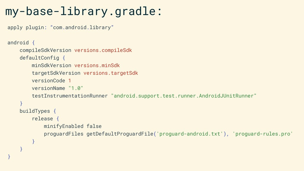 """apply plugin: """"com.android.library"""" android { c..."""