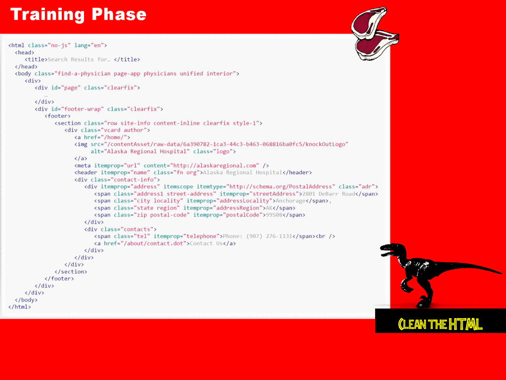Training Phase Clean the HTML